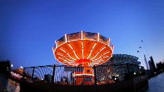 Swing Ride Timelapse Navy Pier - stock footage