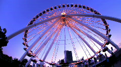Ferris Wheel lights Navy Pier Stock Footage