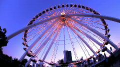 Ferris Wheel lights Navy Pier - stock footage
