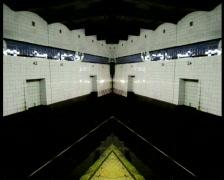 NYC Subway- Mirror Stock Footage