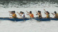 Dragon boat races (TimeLapse) Stock Footage