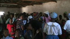 Malawi: worship in a church 2 - stock footage
