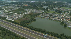 Aerial Large Apartment Complex Stock Footage
