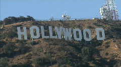 Hollywood Sign Pop Out Stock Footage