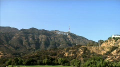 Hollywood Sign Pop In Stock Footage