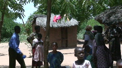 Malawi: people in Nsanje village on Sunday 2 Stock Footage
