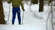 Ski trip. Stock Footage