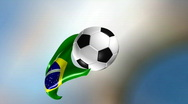 Stock Video Footage of Brazil futbol ball