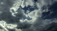 Clouds Time Lapse Bright to Dark Stock Footage