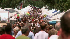 People at Festival - stock footage