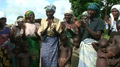 Malawi: african people singing local song 1 Stock Footage