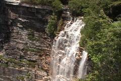 Waterfall Rainbow Cliffs - stock footage