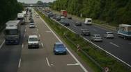 HD1080p German Autobahn. Car Traffic (Time Lapse) Stock Footage