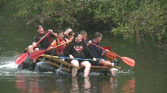 Raft race Stock Footage
