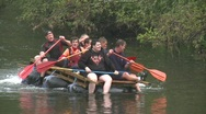 Stock Video Footage of raft race