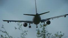 HD720p50 German Bundeswehr Military airplane jetliner landing in Cologne/Bonn. - stock footage