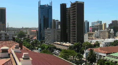 Establishing shot of the skyline of Nairobi, Kenya. Stock Footage