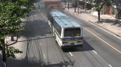 BUS AS BOMB Burning Bus in Riot Street Protest Demonstration Smoking Burning Stock Footage