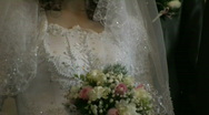 Stock Video Footage of Wedding dress