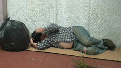 Unemployed Homeless Jobless 1 Stock Footage
