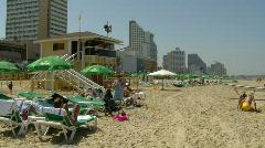 Tal Aviv beach 3 Stock Footage