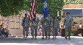 Military Personnel March In A Memorial Day Parade HD Footage