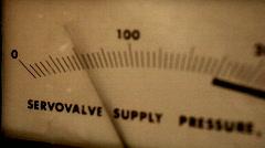 T191 retro power pressure gauge Stock Footage