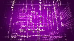Rotating matrix cube  - stock footage