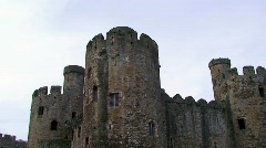 Conwy Castle Stock Footage