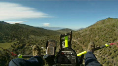 Ultralight rough over mountains HD GP Stock Footage