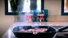 Hot Tasty Ready Steaks Stock Footage
