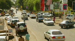 Arusha, Tanzania with vehicle traffic on the streets. Stock Footage