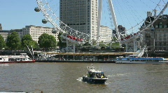 Police boat on the River Thames in London England UK Stock Footage