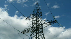 time lapse - reliance power under clouds - stock footage