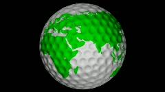 Db earth 45 hd1080 golf world Stock Footage