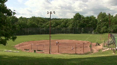 Suburban Baseball Field - stock footage