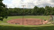 Stock Video Footage of Suburban Baseball Field