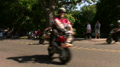 Shrines On Mini Bikes At Parade Stock Footage