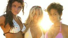 Beautiful Girls Posing to Camera 60FPS Stock Footage