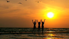 Saluting the Sunset 60FPS Stock Footage