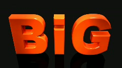 """Great inscription on the black background. """"Big"""".  Stock Footage"""