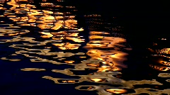 Night reflection Stock Footage