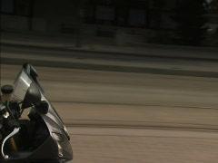 Motorbike on streets of Toronto Stock Footage