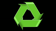 Stock Video Footage of Recycle Symbol