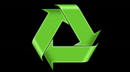 Recycle Symbol Stock Footage