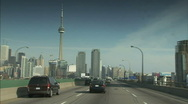 Stock Video Footage of Driving-into-Toronto