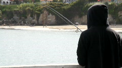 Fishing in the Afternoon Stock Footage