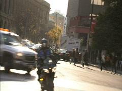 Motorbike on Toronto streets Stock Footage