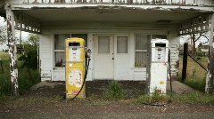 Old Gas Pumps Stock Footage