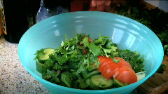 Saucing a Salad Stock Footage